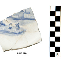 Blue transfer print pearlware (view a)